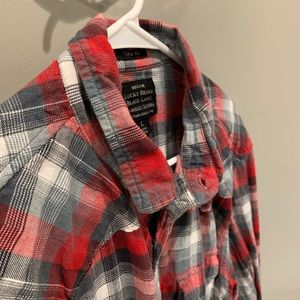 LuckyBrand plaid button-up shirt   size Large